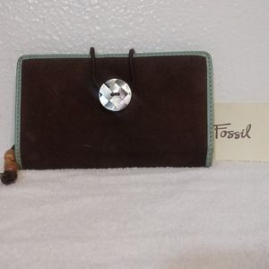 Fossil Boho Checkbook Wallet